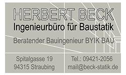 Logo Herbert Beck - Ingenieurbüro für Baustatik