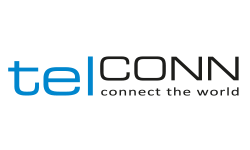 Logo telconn - connect the world