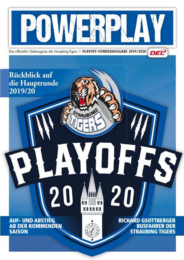 Titelblatt vom Powerplay Saison 2019/2020 Playoff-Sonderausgabe