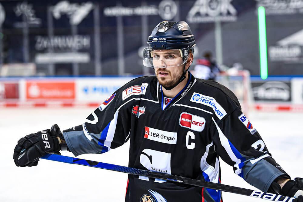 Sandro Schönberger auf der Eisfläche