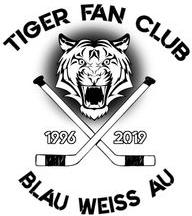 Logo vom Tiger Fan Club Blau Weiß Au