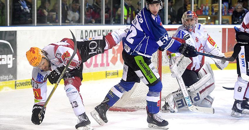 Eishockeyspieler in Action