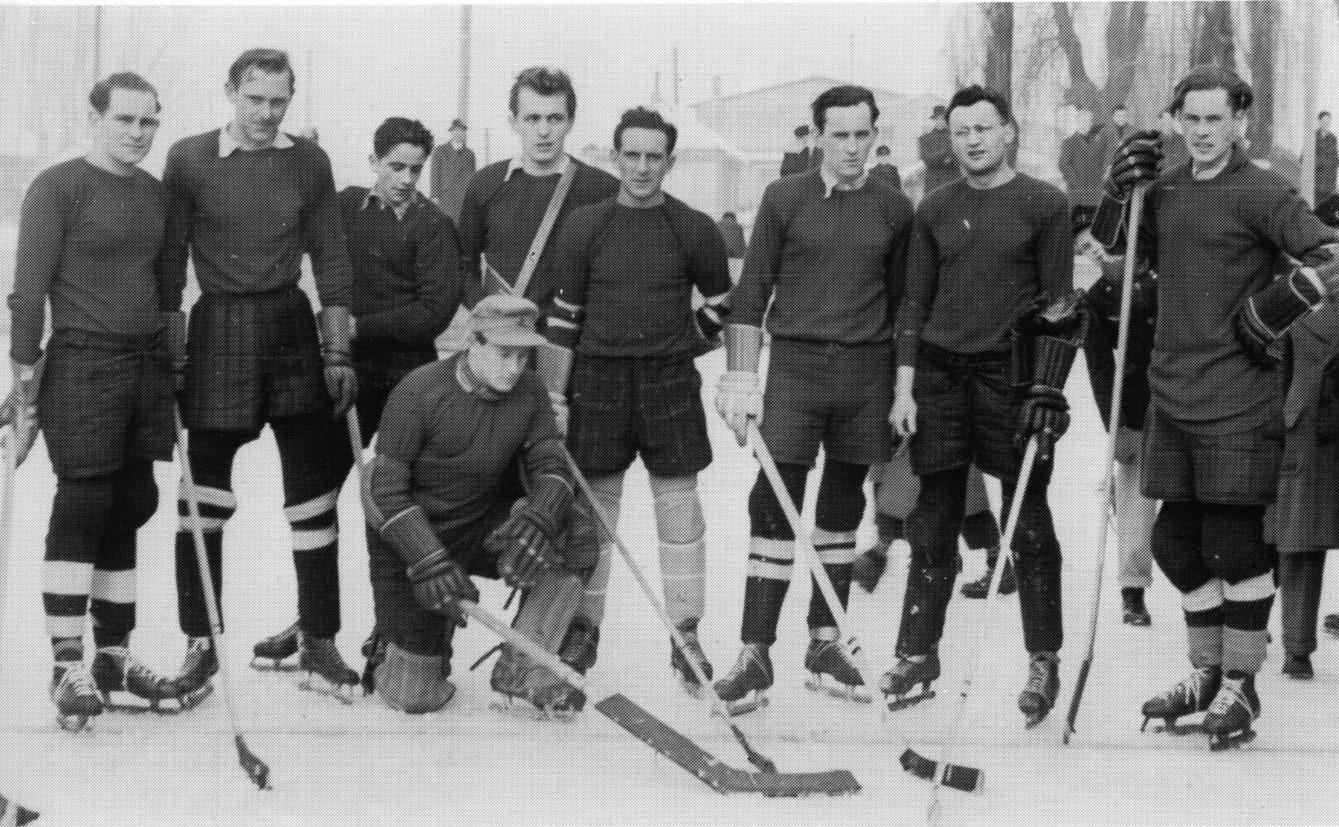 Gruppenfoto mit den Spielern von 1941