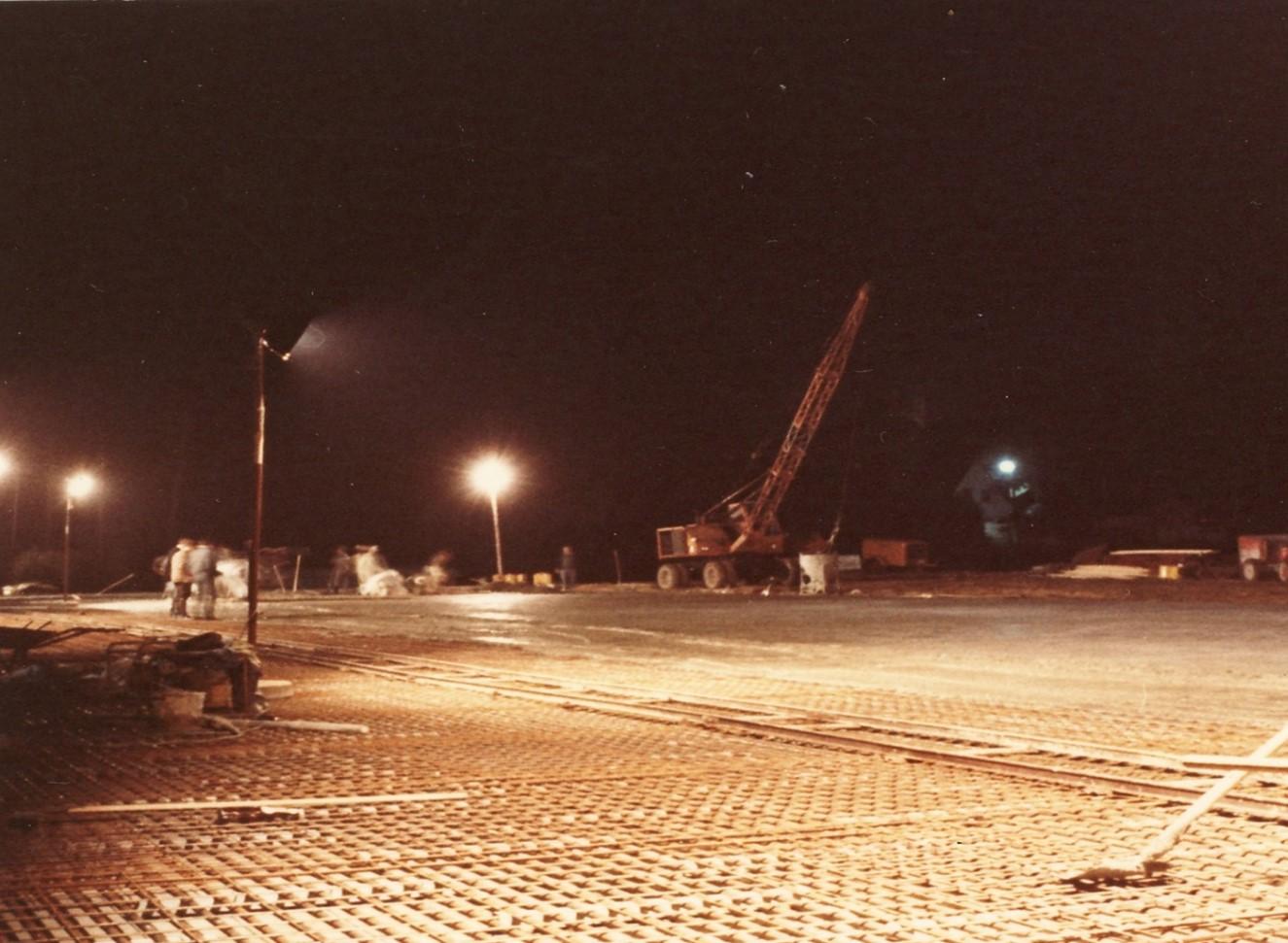 Foto von der Baustelle 1967