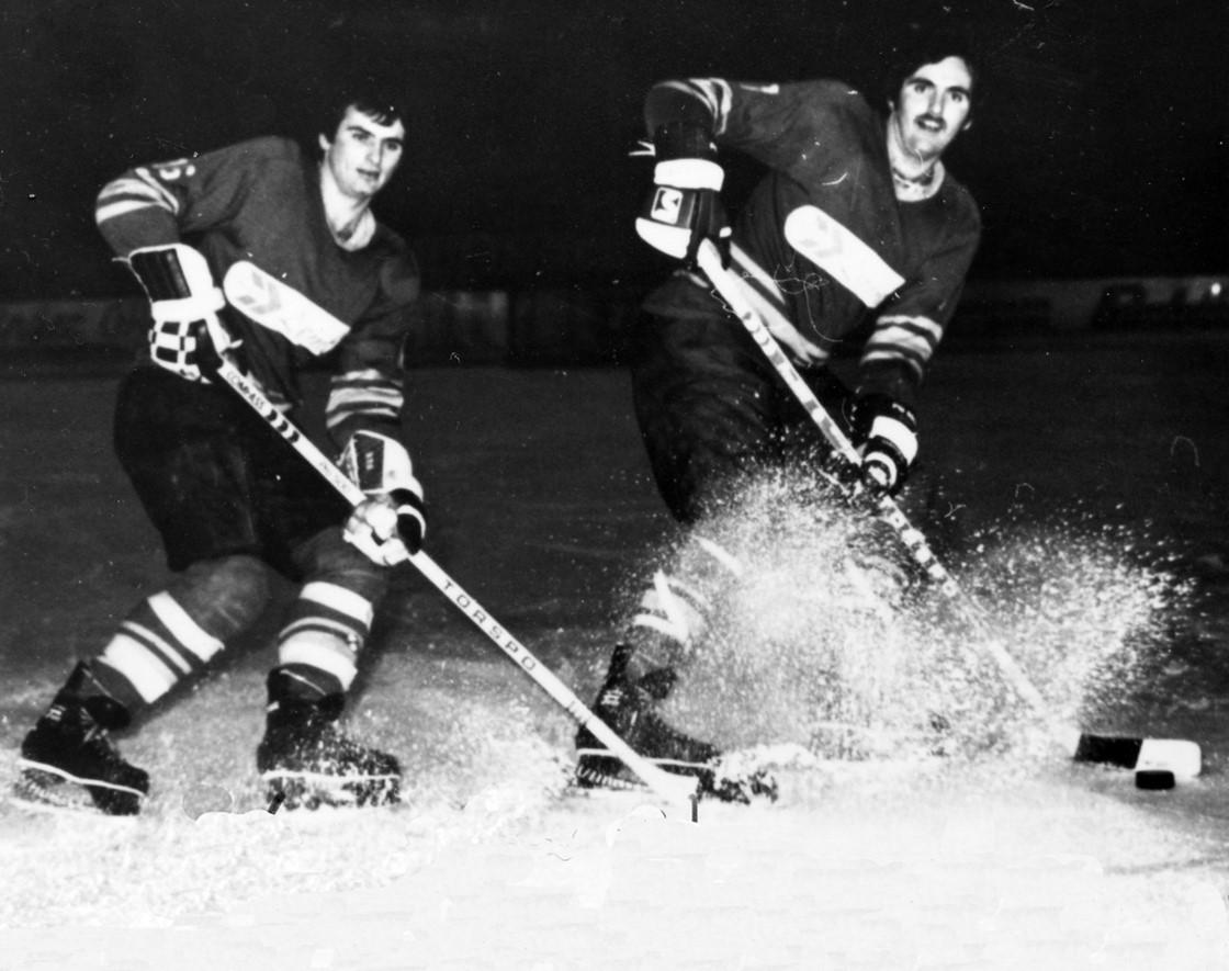 zwei Spieler bei einem Spiel 1979