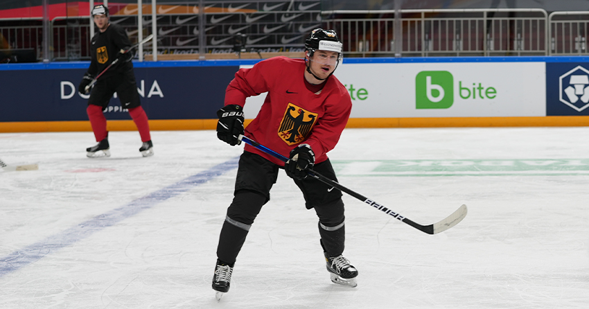 Marcel Brandt beim Spiel gegen Kanada