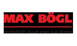 Logo Max Bögl - Fortschritt baut man aus Ideen