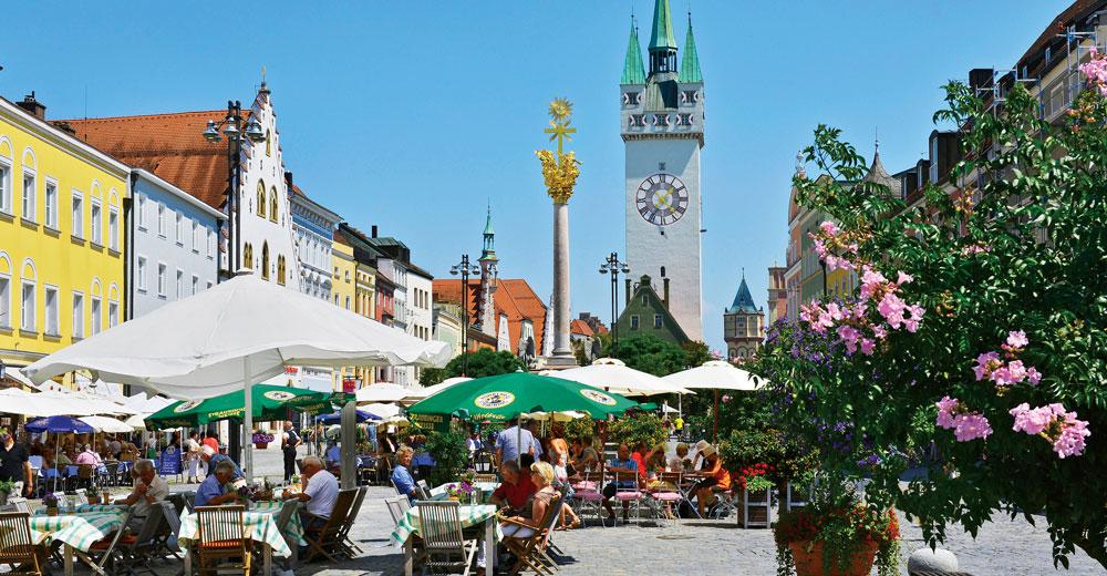 Stadtplatz der Stadt Straubing